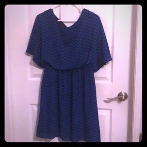 Blue and black pattern dress. Barely worn.